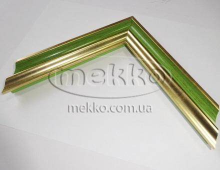 """Багет """"P sait gold green"""" (2,7 cm) Napoli Italy  Миколаїв"""
